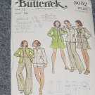 3052 Butterick Vintage Pattern Jacket Skirt Pants Shorts Size 12  No. 226