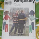 Simplicity 8322 Misses' Mens Teen Jackets Pants Size BB L, XL No. 227
