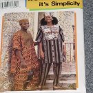 Simplicity 0695 Ethnic Dashiki Misses Men's Teen boys Top Pant Hat  No. 227