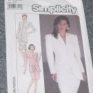 Simplicity 8433 Misses' Size 12 Suit Lined Jacket No. 227