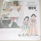 Little Vogue 1824 Child's Dress Smocked Top Size 6 Chest 25 No. 227