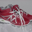 Baseball Cleats Mens Red and White MB2000WR Molded Cleat New Balance Size 7 2E  No. 240