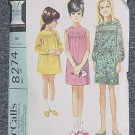 8274 McCall's Vintage Sewing Pattern Girls Dress Two Versions Smocking Size 12 Uncut  No. 250