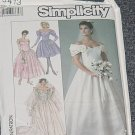 Simplicity 8413 Uncut Wedding Gown Bridal Dress Size 14  No. 250