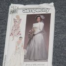 Simplicity 9674 Uncut Wedding Gown Bridal Dress Size GG 26W-32W  No. 250