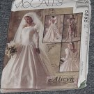 6855 McCall's Wedding Formal Dress Uncut Size F 16, 18, 20,  No. 185