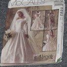 6855 McCall's Wedding Formal Dress Uncut Size F 16, 18, 20,  No. 185