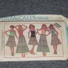 5648 McCall'sTops Skirts   Uncut Size Miss Petite  No. 250