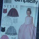 Simplicity 9457 Childs Top Skirts Size A 3,4,5,6,7,8  No. 250