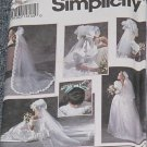 8463 Simplicity Bridal Veils Shoe Decorations Uncut One Size No. 250