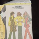 3312 McCall's 70s Vest Pants Top Blouse Uncut Size 16 Bust 38 Wide Legged Pants No. 250