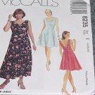 8235 McCalls Misses Pullover Dress Two Lengths  Size E 14, 16, 18 Uncut   No. 250