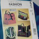 MP377 McCalls Fashion Accessories Totes Bags Sewing with Nancy OSZ Uncut   No. 250