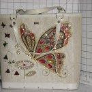 Butterfly Designed Purse Sequins Jewels Tote Purse 1960s Vintage Kit Purse  No. 270