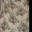 "Barkcloth Vintage Fabric Bark Cloth 47"" x 66"" Trees Flower Vase Urn  no. 315"