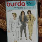 6598 Burda Jacket Skirt Slacks Pants size 10-20  Dec