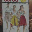 5101 Burda Culotte Pant Skirt size 10-18  Dec