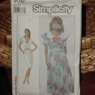 Simplicity 9012  Misses' Dress Portrait collar slim skirt flared Skirt Size 12  Dec