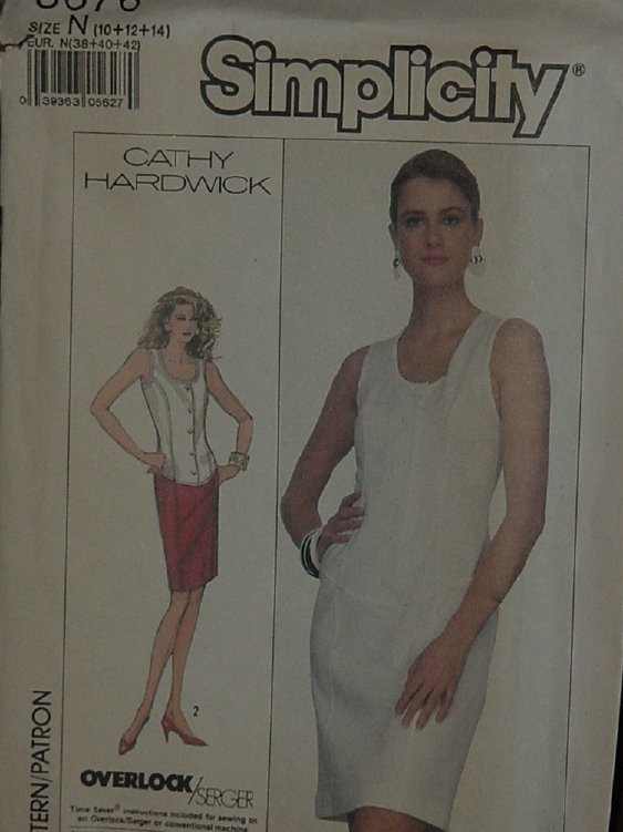 Simplicity 8676  Misses' Semi-fitted Dress Stretch Knits Only Size 10-12-14 dec  3