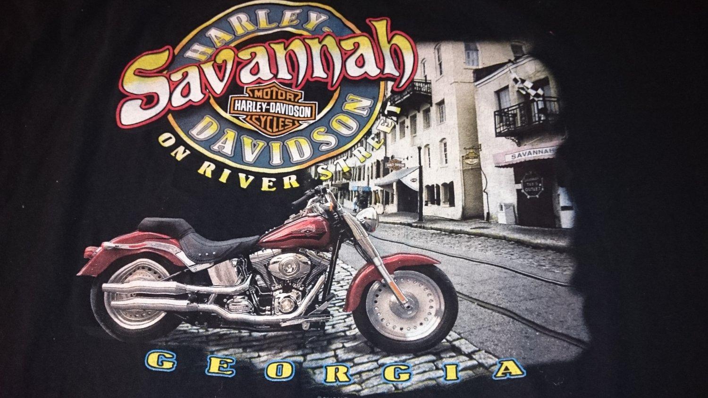 Harley Davidson Shirt Formal Attire is a Black Shirt Savannah Georgia River Street 2XL T-Shirt