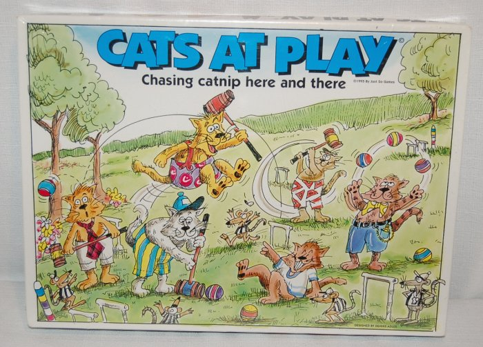 Cats At Play Board Game ~ New Sealed