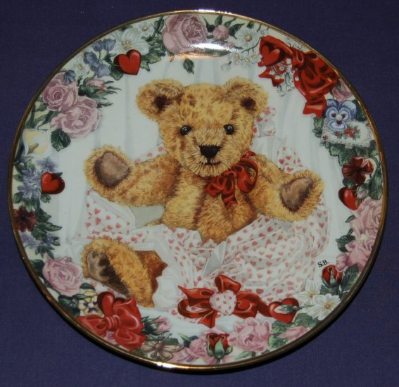 Franklin Mint A Valentine For Teddy Collector Plate LE