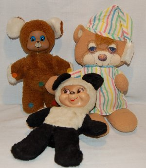 Vintage Teddy Bear Lot * Musical, Molded faces, Fisher Price