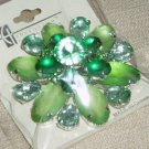 Green Jeweled Pin