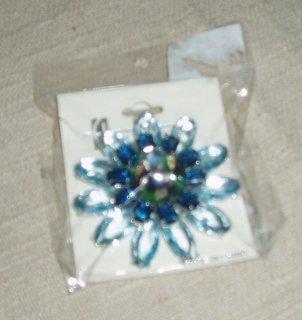 Blue Jeweled Pin