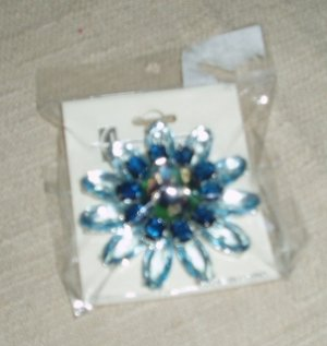 Blue Jeweled Pin