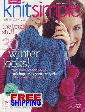 Knit Simple - Winter 2006/07 -- HALF OFF COVER + FREE SHIPPING