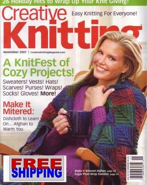 Creative Knitting - November 2007 -- HALF OFF COVER + FREE SHIPPING