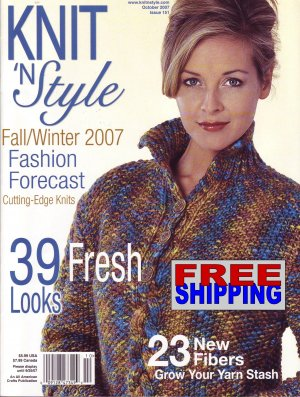 Knit N' Style - Issue 151 - October 2007 -- HALF OFF COVER + FREE SHIPPING