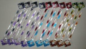 Hair Stick LOT - Colored & Jeweled Diamonds