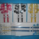 Hair Stick LOT - Colored, Beaded Flowers