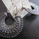 GORGEOUS INTRICATE TEXTURD HOOP EARRINGS