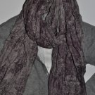 Scarf - Dual Sided Grey & Purple Patterns ~Sealed~ LUSH