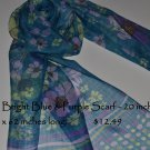 Neck Scarf - Light Weight - Bright Sea Blue
