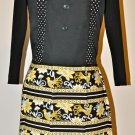 Stylish Yellow And Black Apron - with a Touch of Polka Dot