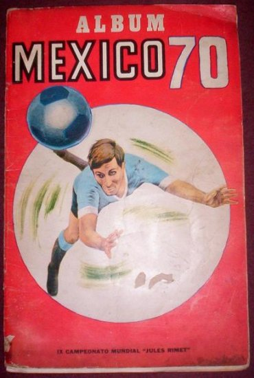 SOCCER WORLD CUP MEXICO 1970  STICKER ALBUM