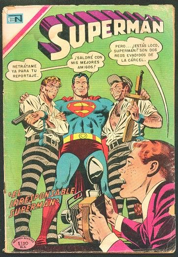 SUPERMAN # 757 Spanish Mexican Comic 1970 NOVARO