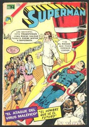 SUPERMAN # 886 Spanish Mexican Comic 1972 NOVARO