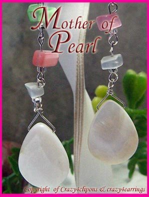 Mother of Pearl Long Dangling earrings