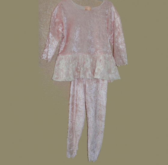 Girls Dressy SPING/SUMMER 2-pc OUTFIT Lacey PINK size 5-6
