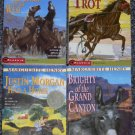 Lot of 4 MARGUERITE HENRY Books-Brighty of Grand Canyon-Justin Morgan Had a Horse + 2 MORE!