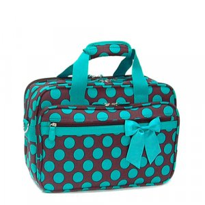 Brown Blue Polka Dot Laptop Case