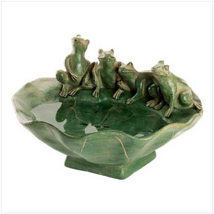 FROG AND LILY PAD TABLE TOP FOUNTAIN