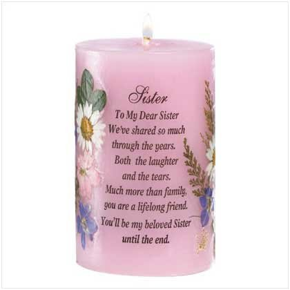 """SISTER"" CANDLE"