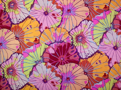 Kaffe Fassett Lotus Leaf Red Fabric