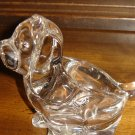 vintage Japanese glass dog figure crystal jewelry holder made in Japan